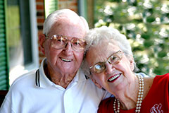 Photo of a couple. Links to Over Age 70 situations.