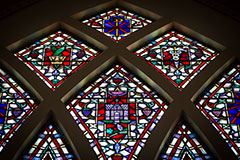 Photo of a stained glass window. Links to Closely Held Business Stock.