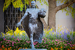 Photo of statue on campus. Links to Gifts That Pay You Income.